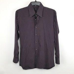 Hugo Boss 16.5 striped button up shirt long sleeve